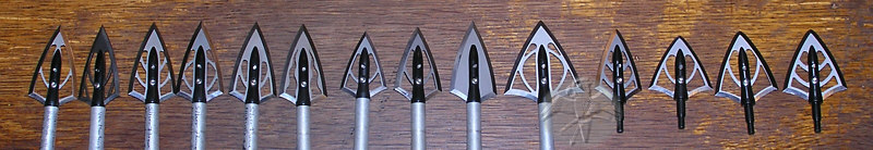 SilverFlame Broadheads from German Kinetics.com   &copy Falk 2005