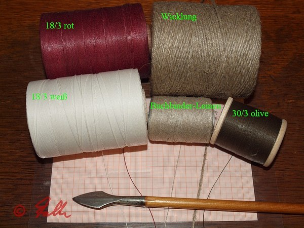 different Linen yarn options in comparison   © Falk 2014
